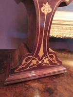 Antique Art Nouveau Inlaid Mantel Clock (3 of 7)