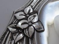 Art Nouveau 1909 Solid Hallmarked Silver Hand Mirror (5 of 13)
