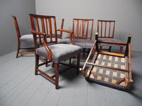 Antique Set of 8 George III Mahogany Dining Chairs (11 of 11)