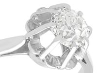 0.68ct Diamond & 18ct White Gold Solitaire Ring - Antique French c.1920 (3 of 9)