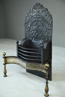 Antique Brass & Cast Iron Fire Basket (7 of 10)
