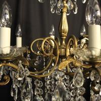 Italian Gilded Brass 8 Light Antique Chandelier (7 of 8)
