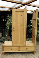 Beautiful Old Pine Triple Knock Down 'Arts & Crafts' Wardrobe  - We Deliver & Assemble! (14 of 18)
