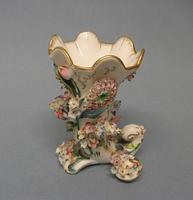Samuel Alcock Flower Encrusted Cornucopia Vase c.1830-1835 (6 of 6)