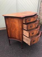 Antique Mahogany Serpentine Chest of Drawers (10 of 11)