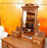 Dressing Table Burr Walnut Mirrored 19th Century (9 of 9)
