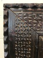 Unusual Antique Carved Side Cupboard (5 of 11)