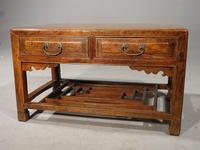 Neat Mid 19th Century Two Drawer Low Table (5 of 9)