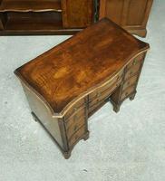 Antique Serpentine Front Walnut Desk (4 of 10)