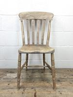 Pair of Antique Slat Back Farmhouse Kitchen Chairs (4 of 9)
