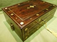 Regency Style Inlaid Rosewood Jewellery – Table Box c.1830 (2 of 11)