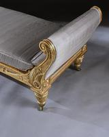 Rare Regency Giltwood & Silk Upholstered Daybed after Morel & Hughes (10 of 13)