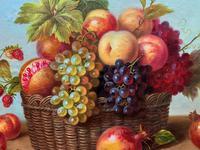 Original Vintage Still Life of Fruit & Flowers - 'Tom Caspers' 20thc British (8 of 12)