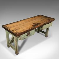 Large Antique Silversmith's Table, English, Pine, Industrial, Bench, Victorian (7 of 12)