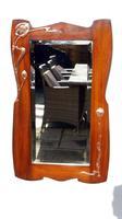 Elegant Art Nouveau Mahogany & Copper Pier Mirror (8 of 11)
