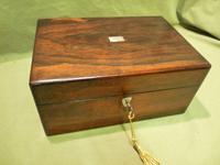 Inlaid Rosewood Jewellery – Vanity Box c.1860 (12 of 14)