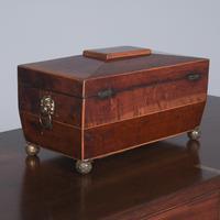 Georgian Mahogany Sarcophagus Shape Tea Caddy (9 of 9)