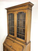 Early 20th Century Antique Oak Bureau Bookcase (16 of 17)