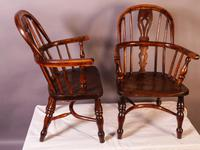 A Near Pair of Childs Yew Wood Windsor chairs (2 of 14)