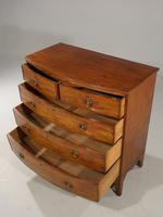 Good George III Period Bow Fronted Chest of Drawers (4 of 5)