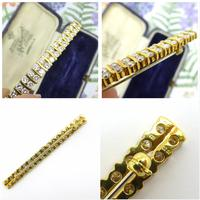 Stunning Vintage Diamond Double Row Bar Brooch 2.5 Carat ~ With Independent Appraisal / Valuation (8 of 11)