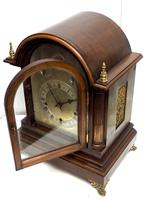 Mahogany & Bevelled Glass W&H Mantel Clock Dual Chiming Musical Bracket Clock Chiming on 9 Coiled Gongs (17 of 17)