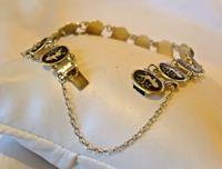 "Vintage Sterling Silver Enamel Bracelet 1960s Goddess of Love 7"" Length 9.1 Grams (8 of 12)"