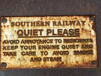Large Heavy Rusted Cast Iron Railway Plaque Sign Train Notice (6 of 25)