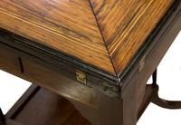 A Late Victorian Inlaid Rosewood Envelope Card Table (7 of 9)