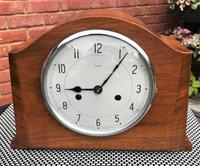 Elegant Mid-1940's English Striking Mantle Clock by Smiths-Enfield