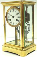 Fine  Antique French Table Regulator with Compensating Pendulum 8 Day 4 Glass Mantel Clock (3 of 11)