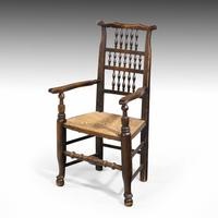 Attractive Mid 19th Century Elm Spindleback Armchair