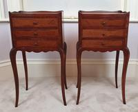 Early 20th Century Pair of Inlaid Kingwood Bedside Cabinets (3 of 5)