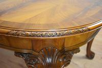 Antique Figured Walnut Extending Dining Table (8 of 11)