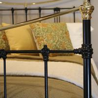5ft Black Art Nouveau Brass and Iron Bed (4 of 7)