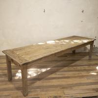 Large Scale 19th Century French Sycamore & Oak Farmhouse Table & Benches (3 of 19)