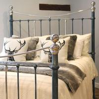 Charcoal Victorian Bed with Nickel Plating (8 of 11)