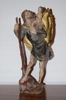 Italian Hand Carved Wooden St. Christopher