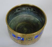 WMF Art Nouveau Planished Brass & Enamel Planter Jardiniere Albert Meyer (4 of 8)