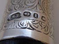 Victorian Walking Stick Cane 1893 Hallmarked Solid Silver Pommel Rosewood Shaft (7 of 12)