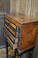 Walnut Collectors Cabinet on Stand (7 of 9)
