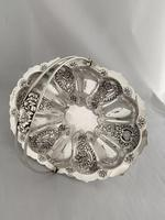 Edwardian Antique Silver Swing Handle Fruit Bowl / Basket 1905 Birmingham (8 of 12)