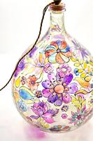 1960s Hand Painted Demi John Lamp with Floral Pattern (16 of 22)