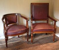 Pair of French Directoire Leather Armchairs (12 of 16)