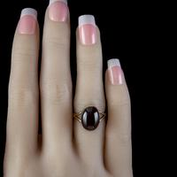 Antique Victorian 6ct Cabochon Garnet Ring 9ct Gold Circa 1900 (5 of 7)