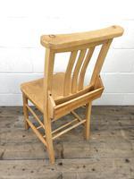 Set of Twelve Vintage Beech Chapel Chairs (10 of 15)