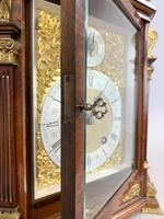Fine quality burr walnut bracket clock by Lenzkirch of Germany, with a quarter chiming movement c.1903 (14 of 14)