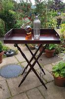 Early 19th Century Mahogany Butlers Tray with Stand (2 of 7)