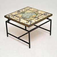 1960's Tiled Top Brass Coffee Table (16 of 18)