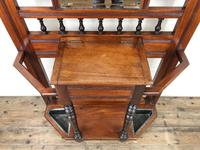 Antique Edwardian Mirror Back Hall Stand (4 of 10)